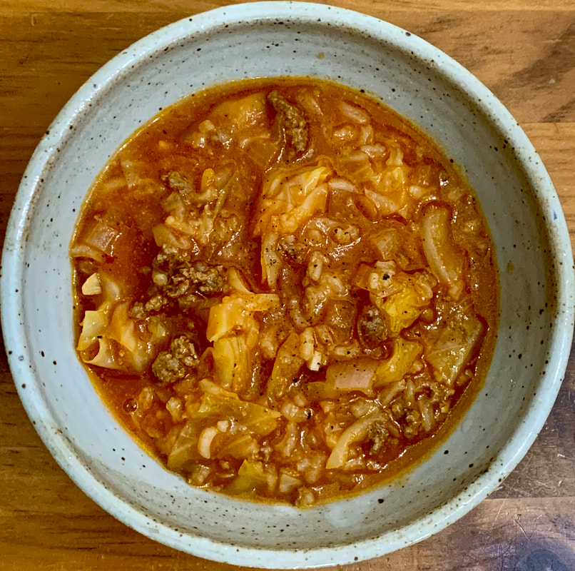 Halupki Stuffed Cabbage Soup aka Cabbage Roll Soup Dinner At The Zoo Recipe Review - Traveling Through Food Blog